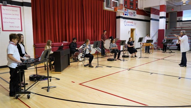 "During the Natoma Veterans Day Musical Salute, USD 399 instrumentalists performed the rousing American Patriotic song, ""This is My Country"" under the direction of Talley Hickman."