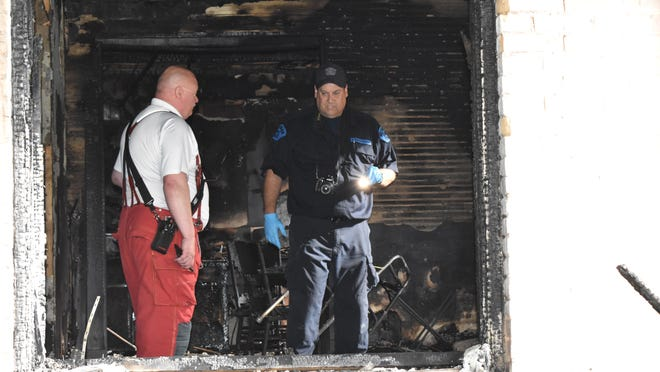 Coldwater Fire Marshall Steve Trall and MSP Fire Investigator Scott Leroy discuss the origin of a fatal fire in Quincy early Tuesday morning.