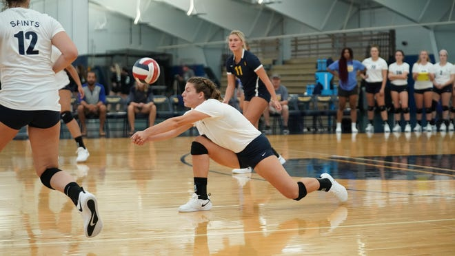 Monroe graduate Anna Tartarian spent three seasons as a defensive specialist for the Siena Heights University volleyball team before becoming an outside hitter her senior year.