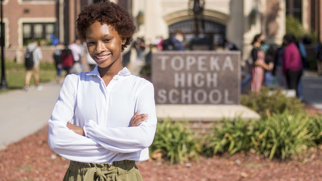 Topeka High senior Chrishayla Adams, who was selected as the statewide student president for Jobs for America's Graduates-Kansas, said she hopes she can use the position to inspire others to learn to use their voices, much like she did when she first joined the career preparation class.
