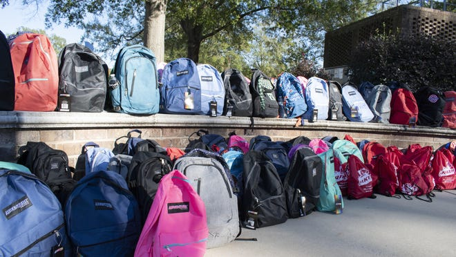 Last fall, USC Aiken students, faculty and staff brought in school supplies and backpacks to be donated to students.