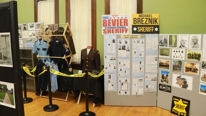 """The history of Lenawee County's law enforcement is now on display at the Lenawee County Historical Society Museum's exhibit titled """"Law Enforcement and Corrections: Past and Present."""" The exhibit features more than 200 years worth of law enforcement artifacts, as well as photos and information on jails located in the county, since the county was formed in 1824."""