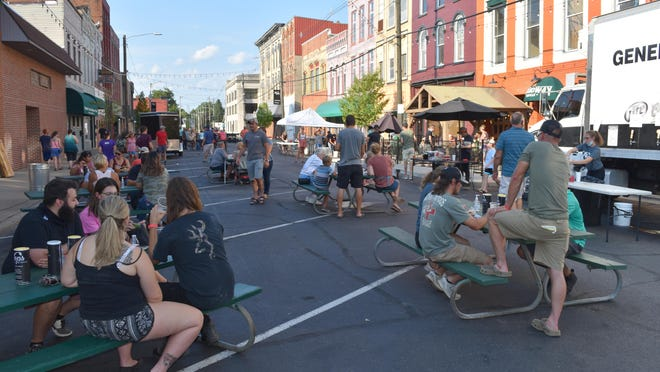 Hops on Monroe has drawn good crowds Thursdays  on South Monroe this summer. The season ends Saturday with Hoptoberfest.