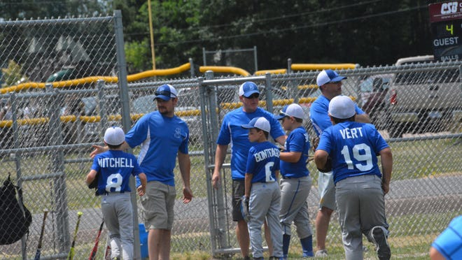 The Soo Sluggers are pictured during a home game last season. The Sluggers are an EUP travel team representing various age groups. The Sluggers U-11 team is hosting a tournament this upcoming weekend in Pickford (