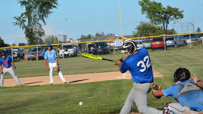 EJ Suggitt (32) of the EUP Wood Ducks takes an at-bat during a home game against Petoskey in this file photo. The Wood Ducks played at Gladstone and Escanaba this past weekend.