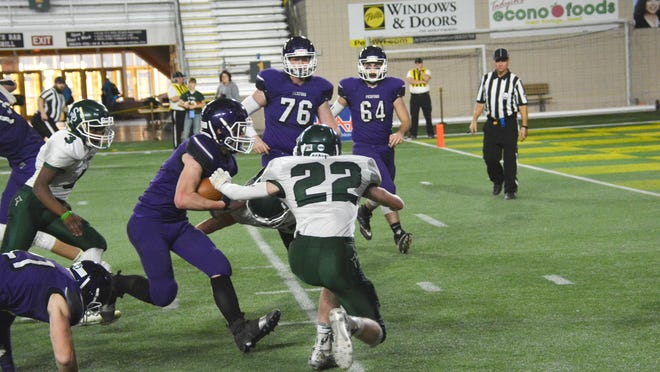 Pickford's Dominic Bonnee runs the football during last season's state championship game against Portland St. Patrick at the Superior Dome in Marquette. The Panthers kick off the 2020 season at home against the Superior Central Cougars this Friday night.
