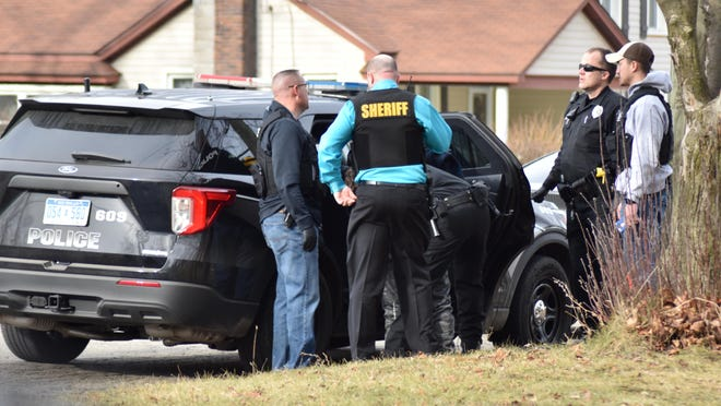 Calhoun County Sheriff detectives, along with an ATF agents with Coldwater Police, arrested Nicholas Gaglio at the corner of Morse and Hull streets in Coldwater Thursday afternoon.