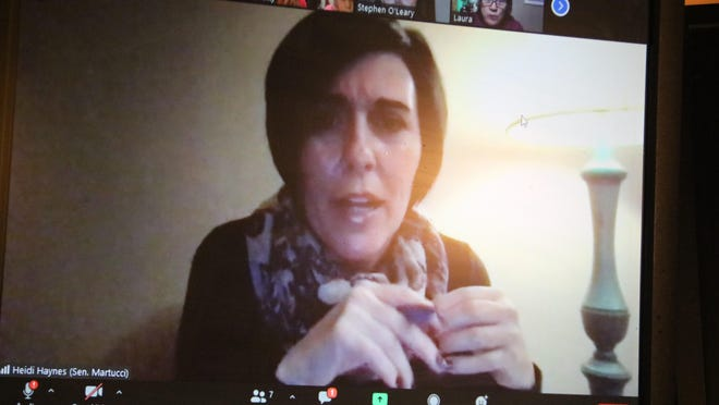 Heidi Haynes, a representative of state Sen. Mike Martucci, said in the Zoom meeting that the senator will be looking into rent issues.