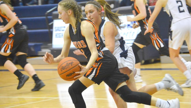 Rudyard's Tristan Smith (3) handles the ball during a Straits Area Conference game at Sault High last season. Rudyard has started practice for the 2021 season.