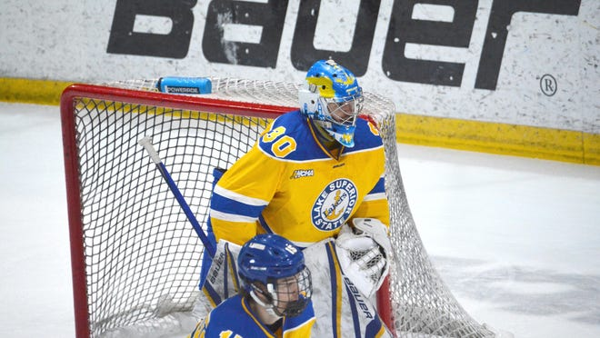 Lake Superior State's Marek Mitens (30) has been named to the Mike Richter Award Watch List. He is one of 33 goaltenders in contention for the award, given annually to the top goalie in NCAA Division I men's hockey since 2014.