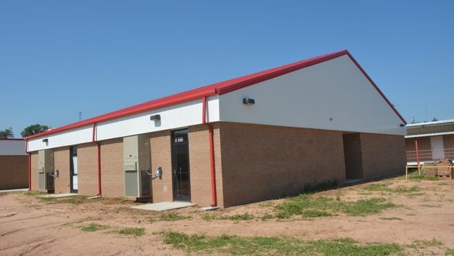 The new building at Bunkie New Tech High School houses middle school classrooms. It was built as part of a district-wide plan to upgrade facilities.
