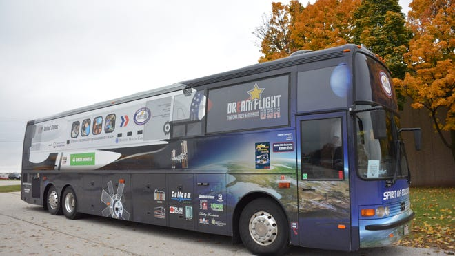 The Spirit of Education STEM Shuttle bus stops at Luxemburg-Casco Intermediate School on Oct. 16.