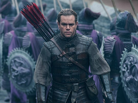 """Matt Damon in """"The Great Wall."""" The movie is playing at Regal West Manchester Stadium 13, Frank Theatres Queensgate Stadium 13 and R/C Hanover Movies."""