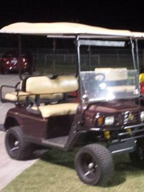 A golf cart similar to this one was stolen from the Riverdale High School grounds Monday night during a basketball game. Southwest Florida Crime Stoppers is seeking information on the theft.