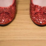 Red sparkly shoes