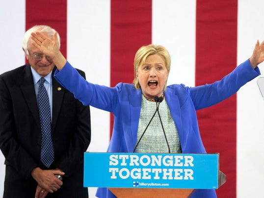 ... rally in Portsmouth, N.H., Tuesday, July 12, 2016. (Photo: Jim Cole