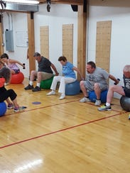 Members of the Access Fitness Senior Group Exercise