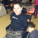 Aaron Negrete, 10, has Tetra Amelia Syndrome, which means he was born with no limbs. (Photo shared with News10 on Wednesday, April 16, 2014)