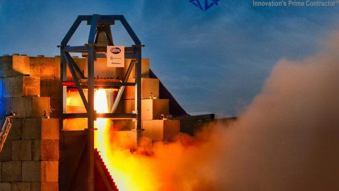 Exquadrum has concluded its final hot-fire test of the new rocket for the DARPA Operational Fires (OpFires) system objectives at the company's FORGE Rocket Test Facility at the Southern California Logistics Airport in Victorville.