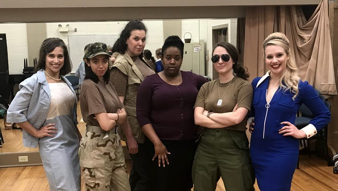 """Sara Fetgatter, Zoe Abuyuan, Jackie Ostick, Jamila Hunter, Emily Rourke and Quinn Tierney Vaira star in Shirley Lauro's """"A Piece of My Heart"""" at the Roxy Regional Theatre, April 13-28"""