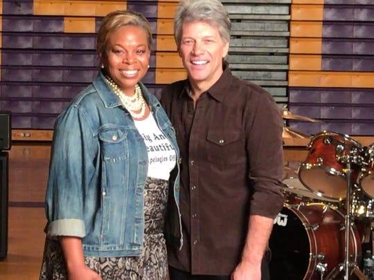 Camden Mayor Dana Redd with Jon Bon Jovi at Camden