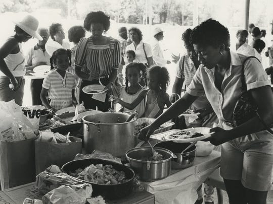 This undated photo shows people getting food at Silver Springs Park.
