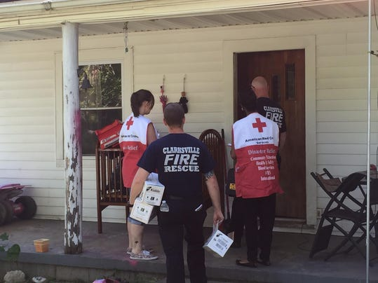 fire and red cross