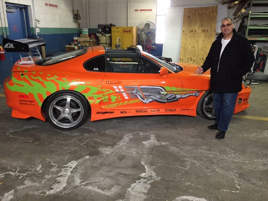 bhm Mark Marougi of Bloomfield Hills with his Fast and Furious car for Autorama.