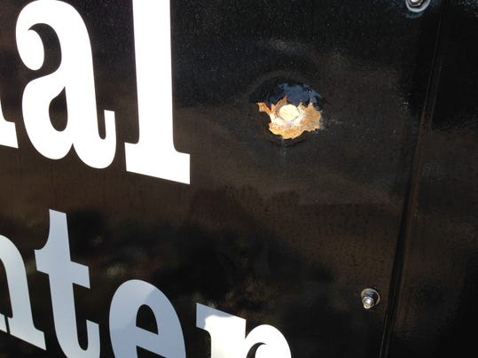 Doster bullet hole