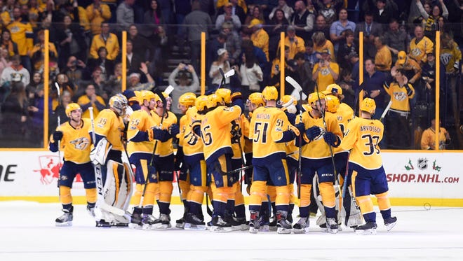 The Predators are in third place in the Central Division and sixth in the NHL after a successful first half.