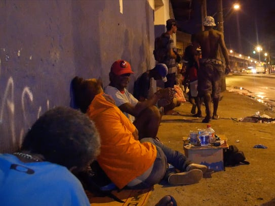 Rio de Janeiro's so-called Cracklands area, where addicts