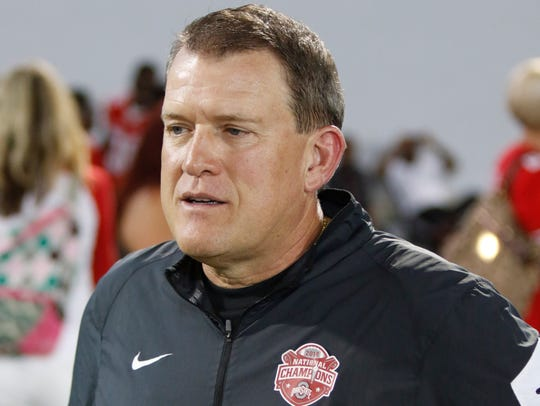 Ohio State offensive coordinator Ed Warinner