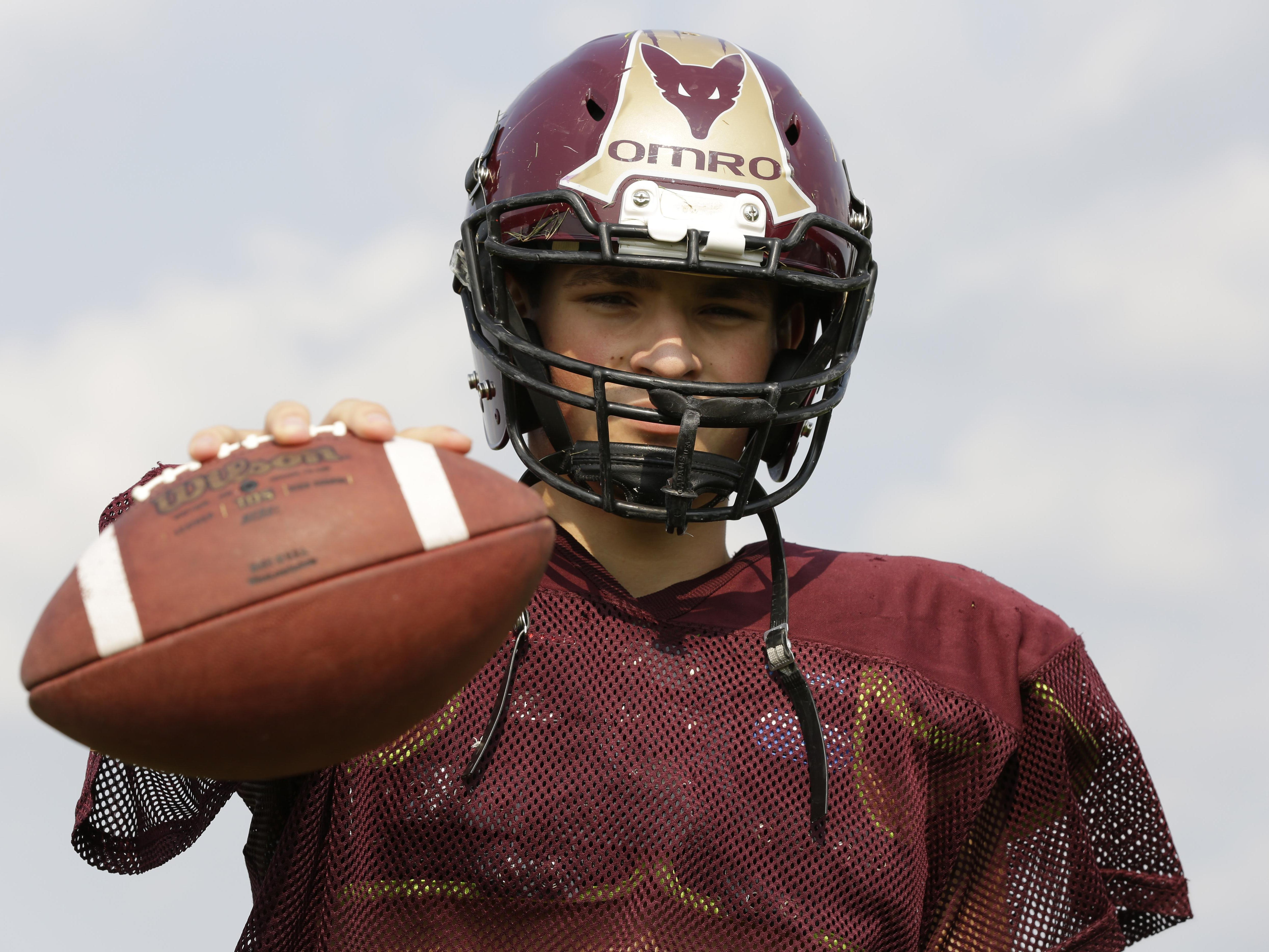 Omro quarterback Spencer Potratz is a 3-year starter for the football team.