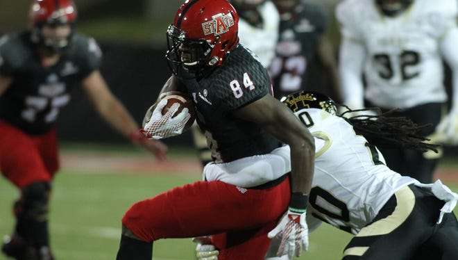 Dijon Paschal was second in receiving yards at Arkansas State in 2015 with 541 yards on 28 catches and three touchdowns.