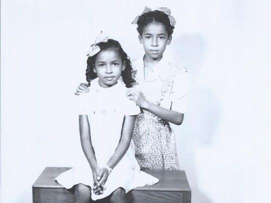 Cheryl Devall's mother, Arlene (left) with her sister, Janet