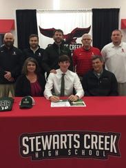 Stewarts Creek's Daniel Freeman signed a baseball scholarship