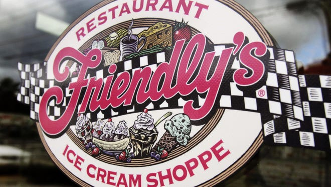 This Oct. 5, 2011 file photo shows a sign displayed on the door at Friendly's restaurant in Brunswick, Maine. Friendly's Restaurant, an East Coast restaurant chain known for its sundaes, is filing for bankruptcy protection. The company said it will sell substantially all of its assets to the restaurant company, Amici Partners Group, and all 130 of its locations will remain open while in restructures under Chapter 11 bankruptcy protection.