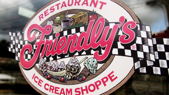 FILE - This Oct. 5, 2011 file photo shows a sign displayed on the door at Friendly's restaurant in Brunswick, Maine. Friendly's Restaurant, an East Coast restaurant chain known for its sundaes, is filing for bankruptcy protection. The company said it will sell substantially all of its assets to the restaurant company, Amici Partners Group, and all 130 of its locations will remain open while in restructures under Chapter 11 bankruptcy protection.