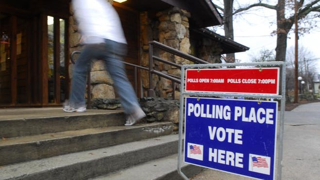A polling place is open in the city of Greenville during a recent election.