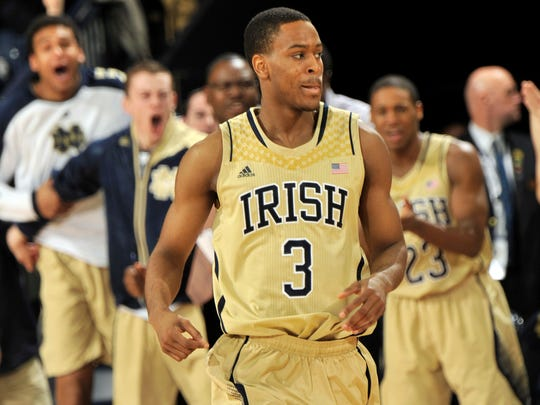 Notre Dame guard VJ Beachem is a former Indiana All-Star from New Haven High School.