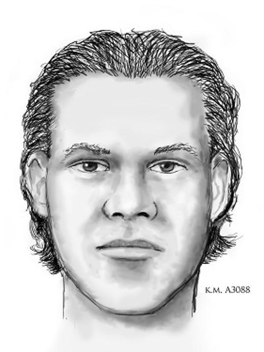 Sketch of gunman who shot at police