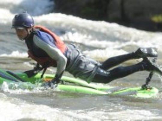 Bellyak - part surfboard, part kayak