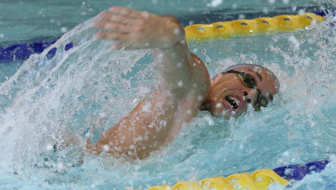 Alec Reimon of Rutherford came in first place in the boys 200 freestyle.