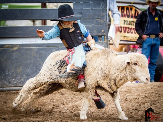 Mutton busting at Cave Creek Wild West Days.