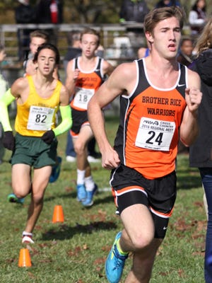 Junior Mike Tremonti (right) was Brother Rice's top finisher as the Division 1 regional.