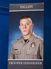 DPS Trooper Tyler Edenhofer was killed during an altercation on I-10 on July 25, 2018.