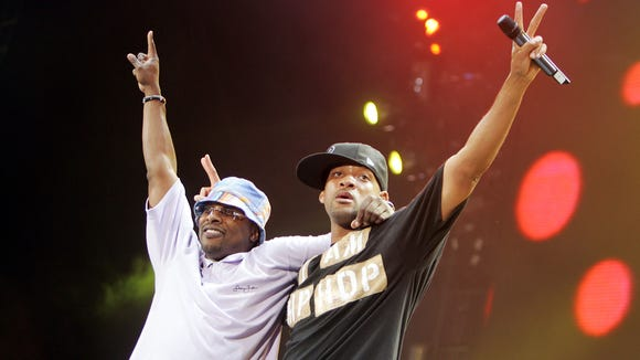 Will Smith and DJ Jazzy Jeff perform in Anaheim, Calif. in 2005.