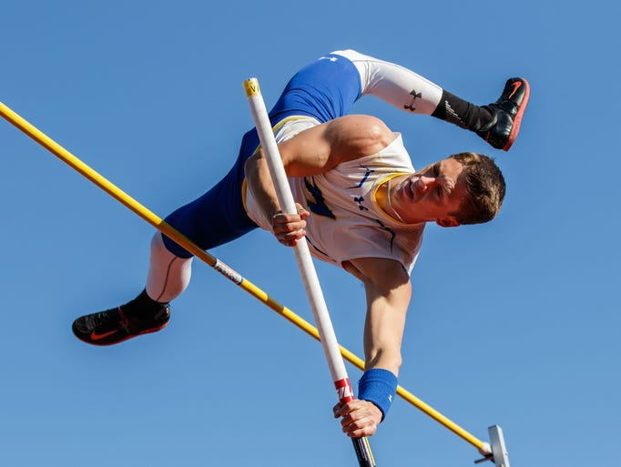 Mukwonago senior Bailey Kroll competes in the pole