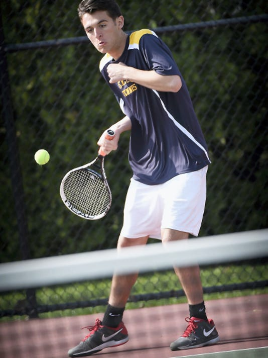 Christian Stahl teamed with Dawson Smith for a  win at No. 2 doubles on Thursday.