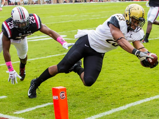Vanderbilt Commodores running back Khari Blasingame